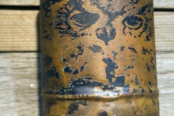 Etched owl copper cuff bracelet