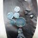 Bubbles and shells boho leather bib jewelry
