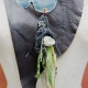 upcycled shells bohemian leather bib necklace with pewter branch