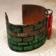 """Etched copper cuff """"life"""" obstacles and hoops"""