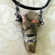 Chunky relics and ruins orange tone concrete shard necklace