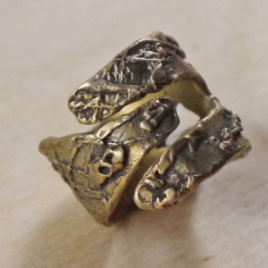 rustic and organic ring