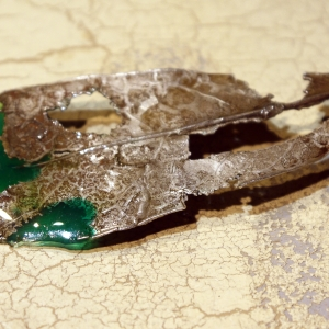 Sterling silver leaf pendant with resin