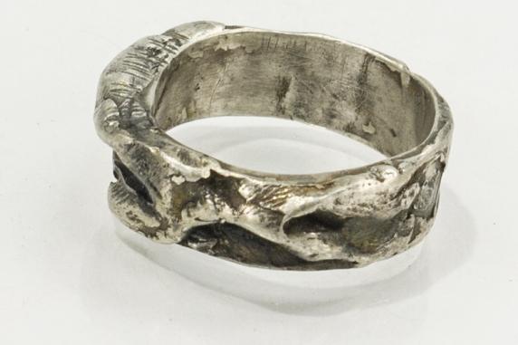 sculptural men's ring