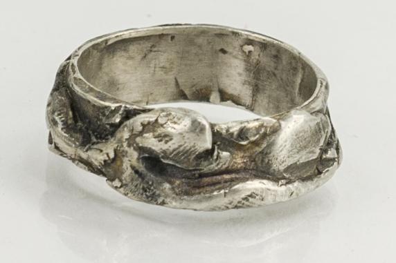 rugged organic style ring