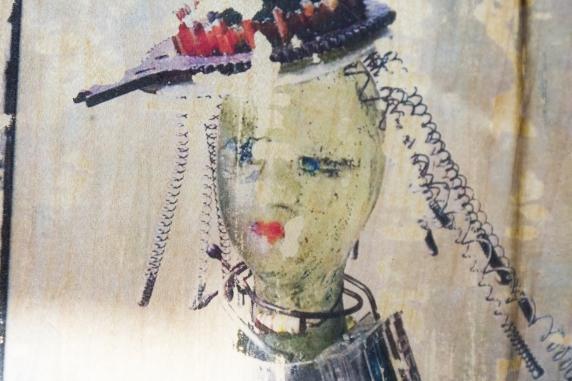 recycled mixed media art