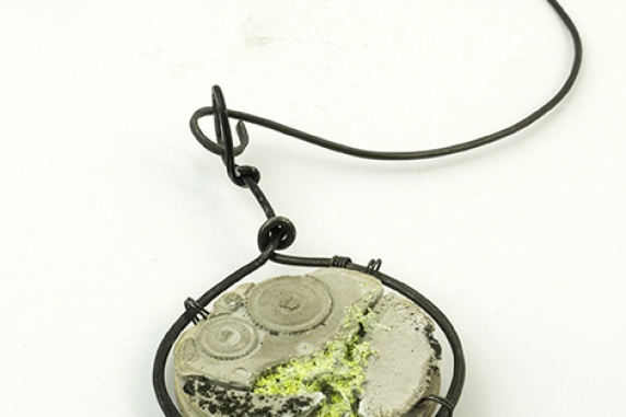 cast concrete jewelry