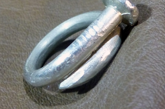silver tone ring