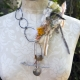 free spirit necklace with steel links and organic embellishments
