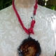 Airplane parts resin disc necklace