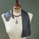 contemporary art jewelry leather collar