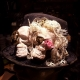 Steampunk day of the dead skull top hat