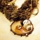 Edwardian steampunk fringe necklace with face