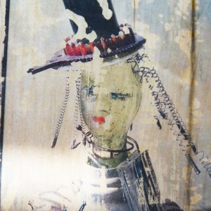 recycled mixed media art